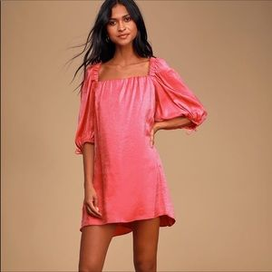 Free People Coral Pink Shimmer Dress